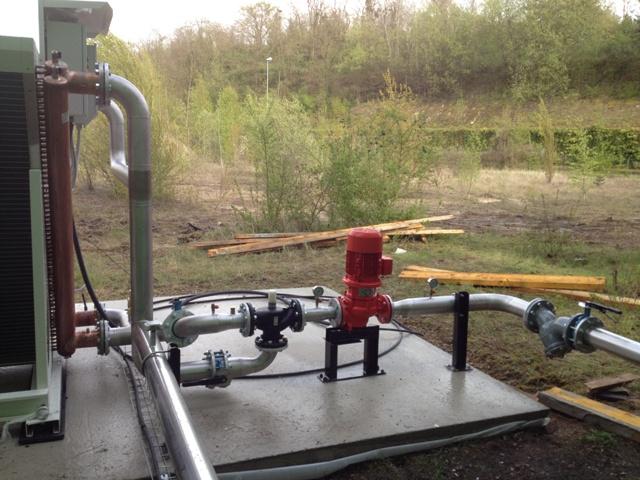 Mise en place de la tuyauterie pour réseau toluène